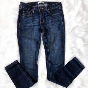 A&F Low Rise Dark Wash Denim Skinny Jeans